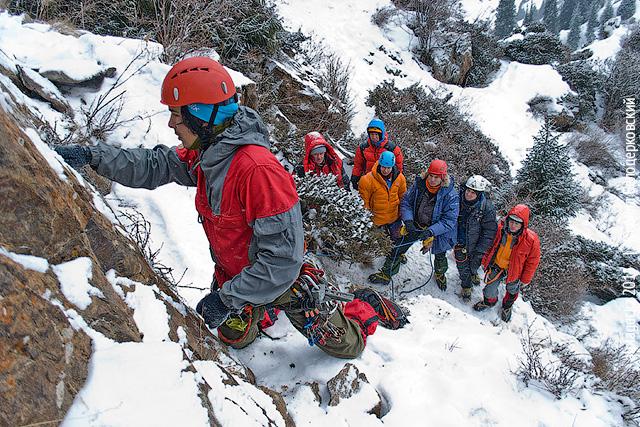 Скальные занятия зимой