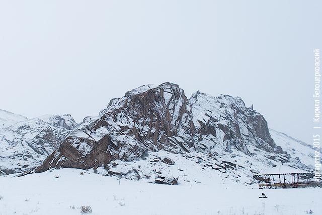 Снегопад на Или