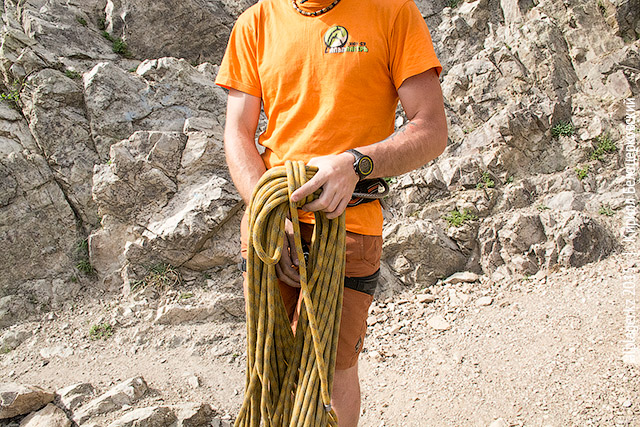 Лагерный работник и верёвка