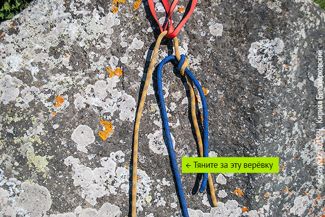 Как продёргивать верёвку