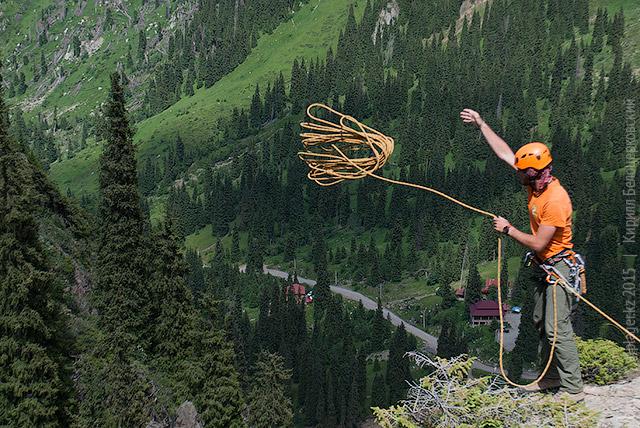 Как сбрасывать верёвку