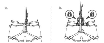 Пристёгивайтесь двумя карабинами. Из инструкции к обвязке