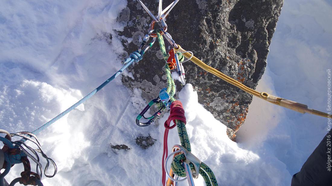 Несколько корзинок на одной верёвке