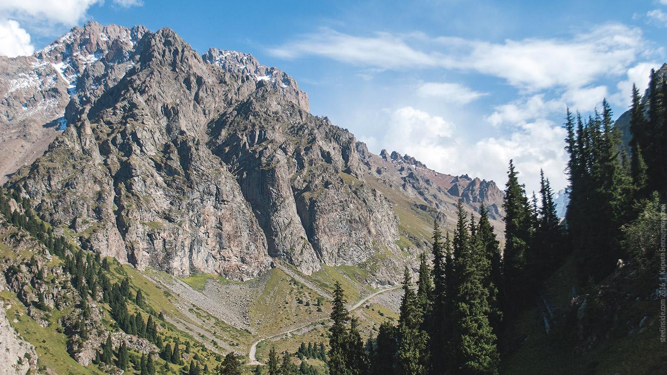 Скалы высотой по 200 метров.