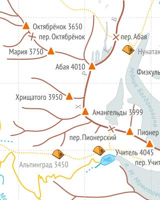 Схема района Туюк-Су