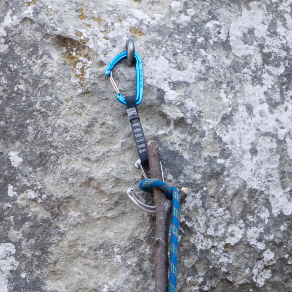 Верёвка вщёлкивается в оттяжку